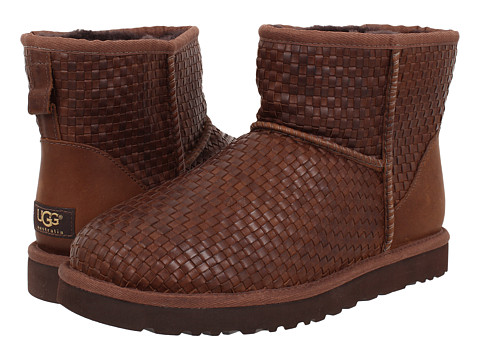 Incaltaminte Barbati UGG Classic Mini Woven Cognac Leather