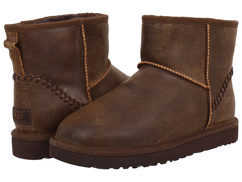 Incaltaminte Barbati UGG Classic Mini Deco Chocolate Leather