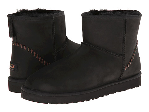 Incaltaminte Barbati UGG Classic Mini Deco Black Leather