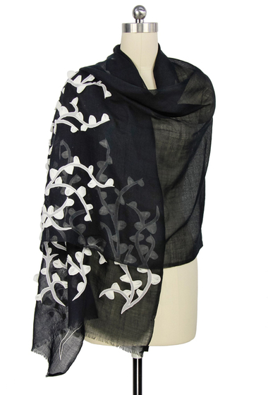 Accesorii Femei Saachi Black Vine Organza Wool Wrap NO COLOR