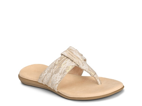 Incaltaminte Femei Aerosoles Chlairvoyant Lace Flat Sandal CreamGold