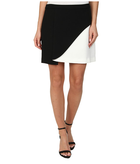 Imbracaminte Femei BCBGMAXAZRIA Kiri Contrast Petal Mini Skirt BlackOff White