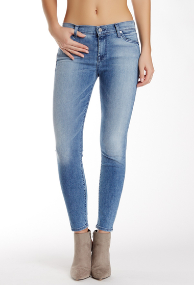 Imbracaminte Femei 7 For All Mankind Ankle Skinny Jean LTBLUHUE