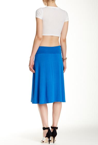 Imbracaminte Femei Bobeau Solid Flip Flop Skirt COBALT
