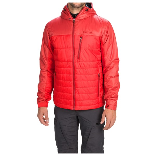 Imbracaminte Barbati Marmot Caldera Hooded Jacket - Insulated TEAM RED DARK CRIMSON (06)