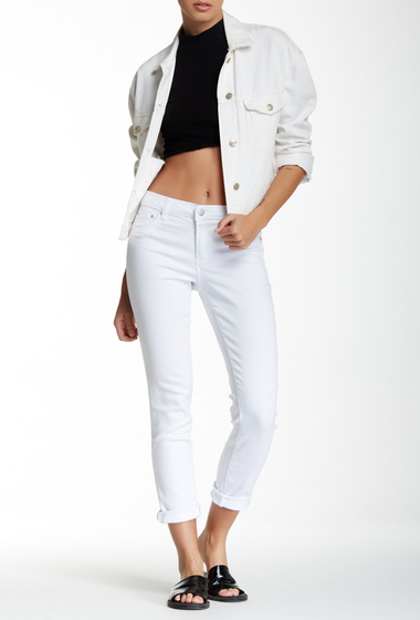 Imbracaminte Femei Tractr Jeans Basic Roll Cropped Ankle Jeans WHITE