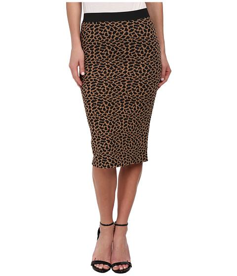 Imbracaminte Femei Brigitte Bailey Leopard Print Textured Midi Skirt Cognac