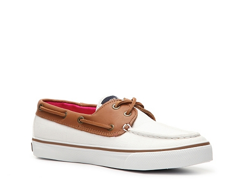Incaltaminte Femei Sperry Top-Sider Bahama Canvas Leather Boat Shoe Ivory