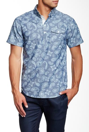 Imbracaminte Barbati Barque Paisley Print Pullover European Fit Shirt INDIGO
