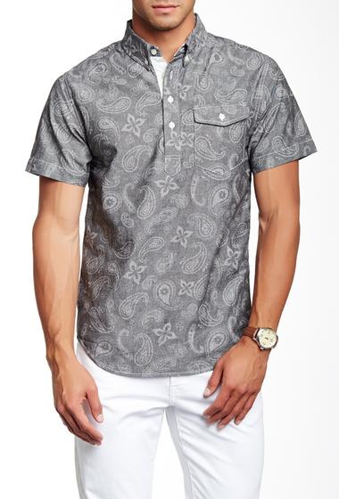 Imbracaminte Barbati Barque Paisley Print Pullover European Fit Shirt DK GREY