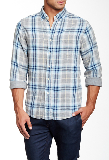 Imbracaminte Barbati Barque Double Faced Long Sleeve Plaid European Fit Shirt GREY HEATHER