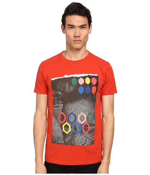 Imbracaminte Barbati Marc Jacobs Regular Fit Graphic Print Summer Jersey Tee Berry Red