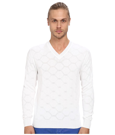 Imbracaminte Barbati Marc Jacobs Honeycomb Cotton Relief Sweater White