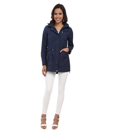 Imbracaminte Femei Cole Haan 34quot Single Breasted Rain Jacket Ink Blue
