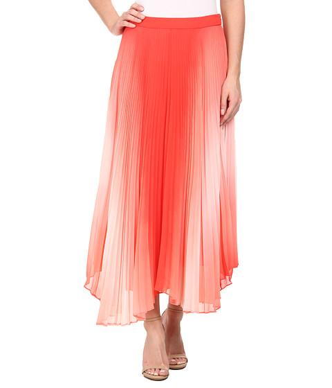 Imbracaminte Femei Vince Camuto Asymmetrical Hem Pleated Midi Skirt Pomegranates