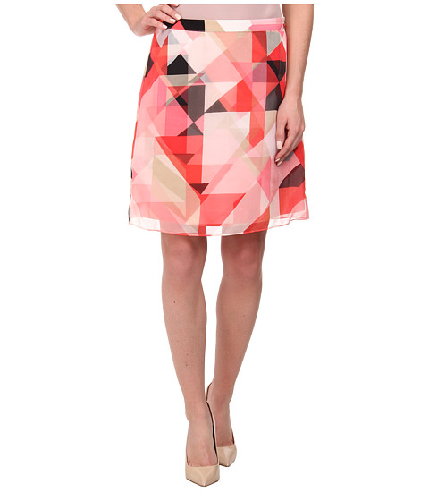 Imbracaminte Femei Vince Camuto Sorbet Squares A-Line Double Layer Skirt Taffy Pink