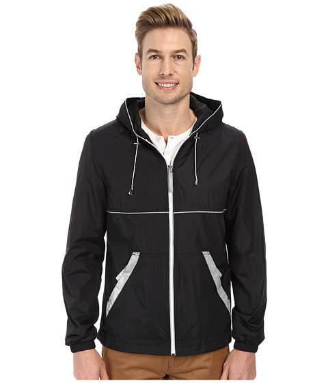 Imbracaminte Barbati Perry Ellis Nylon Hooded w Reflective Tape Black