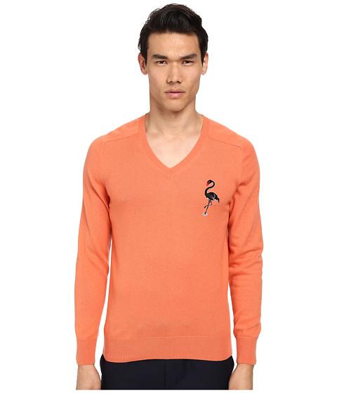 Imbracaminte Barbati Marc Jacobs Cashmere Silk Flamingo Embroidered Sweater Flamingo