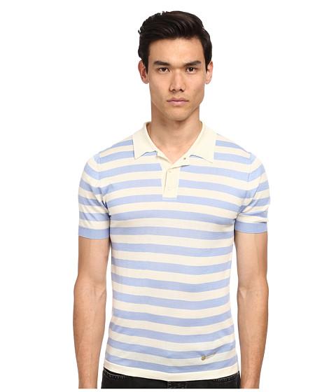 Imbracaminte Barbati Marc Jacobs Yarn Dyed Striped SS Polo Blue Sky