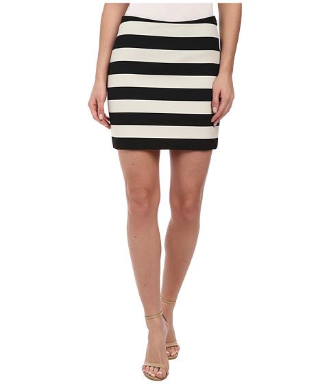 Imbracaminte Femei Nicole Miller Bold Stripe Mini Skirt BlackWhite