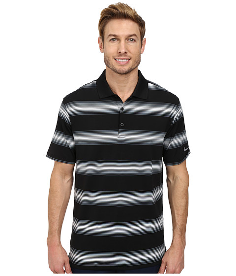Imbracaminte Barbati Nike Golf Tech Ultra Stripe Polo BlackBlue GraphiteBlackWolf Grey