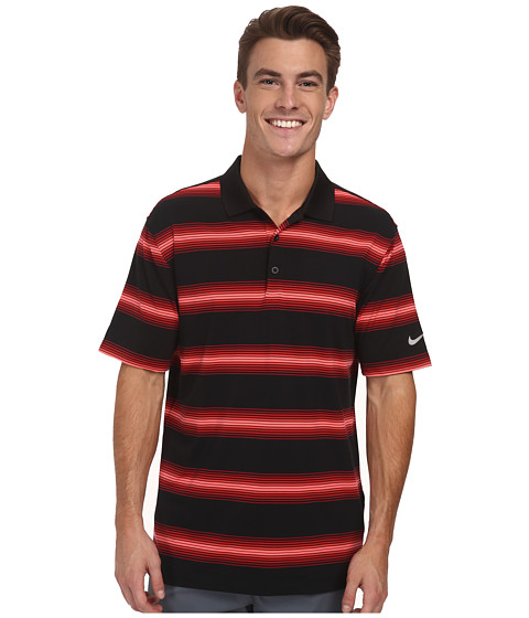 Imbracaminte Barbati Nike Golf Tech Ultra Stripe Polo BlackGym RedBlackWolf Grey