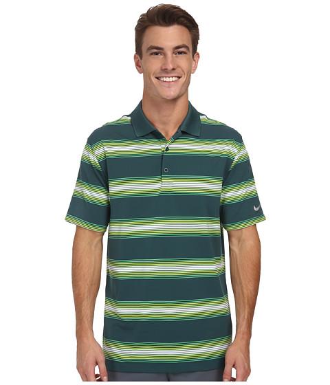 Imbracaminte Barbati Nike Golf Tech Ultra Stripe Polo Dark EmeraldDark EmeraldWolf Grey