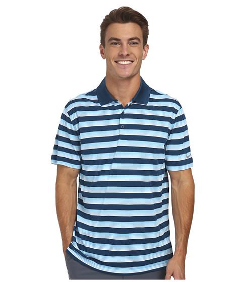 Imbracaminte Barbati Nike Golf Tech Vent Stripe Polo Blue ForceClearwaterWolf Grey