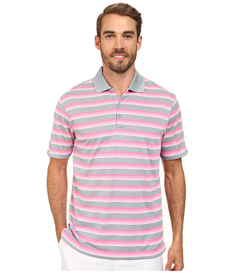 Imbracaminte Barbati Nike Golf Tech Vent Stripe Polo Dove GreyPink PowAnthracite