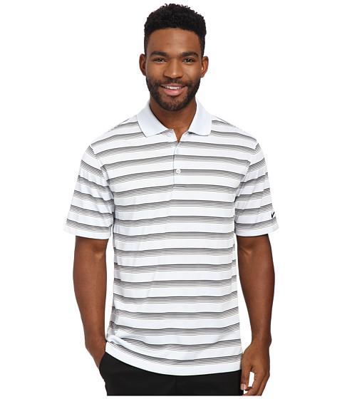 Imbracaminte Barbati Nike Golf Tech Vent Stripe Polo Pure PlatinumDark GreyAnthracite