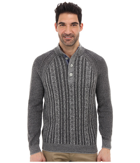 Imbracaminte Barbati Tommy Bahama Barbados Cable Button Mock Neck Sweater Storm Grey