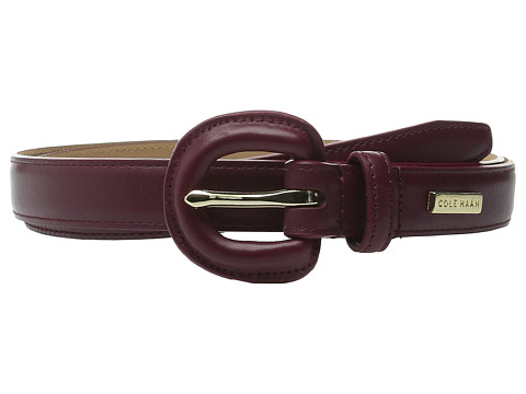 Accesorii Femei Cole Haan 23mm Dress Calf Panel w Covered Buckle Zinfandel