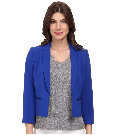 Imbracaminte Femei Adrianna Papell Cropped Jacket w Back Crossover Cobalt