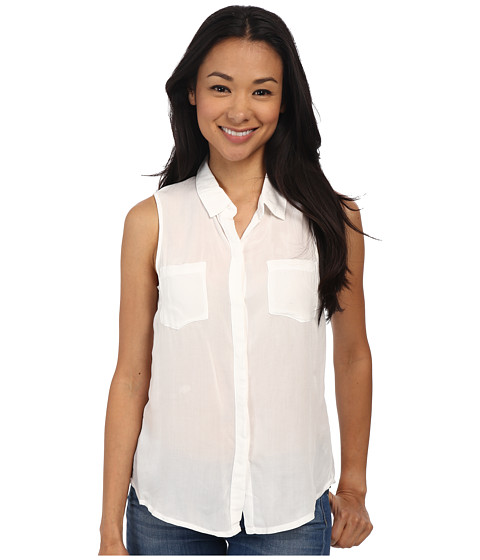 Imbracaminte Femei Splendid Rayon Voile Tank Top White
