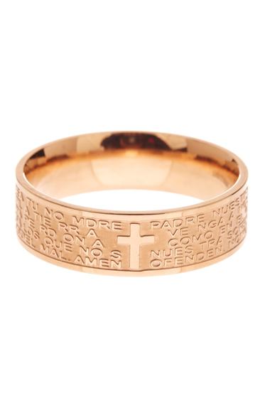 Bijuterii Femei Savvy Cie 14K Rose Gold Plated Sterling Silver Lords Prayer Band Ring pink