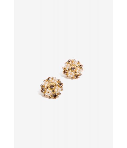 Bijuterii Femei CheapChic Katie Pearl Pave Stud Earring Peach