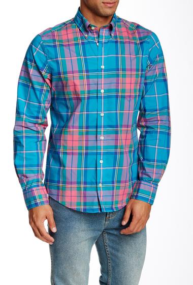 Imbracaminte Barbati Gant Plaid Long Sleeve Regular Fit Shirt BLUE SAGE