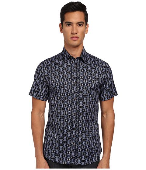 Imbracaminte Barbati Just Cavalli African Rhapsody Print Short Sleeve Shirt Button Up Blue