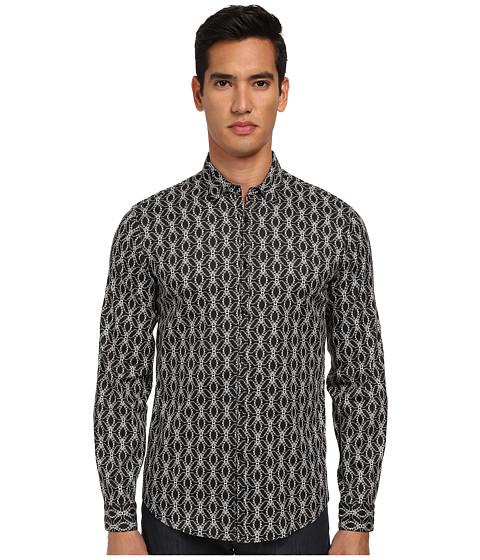 Imbracaminte Barbati Just Cavalli African Rhapsody Print Cotton Stretch Shirt Button Up Black
