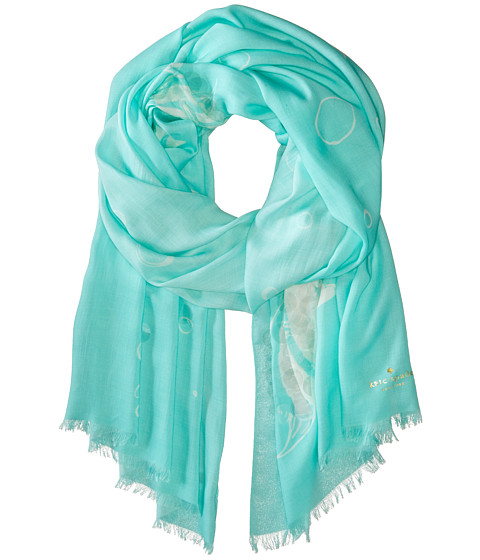 Accesorii Femei Kate Spade New York Embellished Fish Bubble Scarf Blue