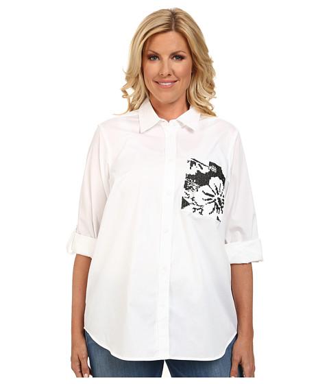 Imbracaminte Femei Michael Kors Plus Size Sequin Pocket Button Down Top White