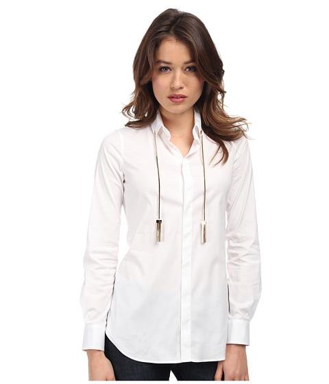 Imbracaminte Femei DSQUARED2 Jardin Tux Shirt White