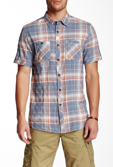 Imbracaminte Barbati Jeremiah Soren Plaid Short Sleeve Regular Fit Shirt SHALE