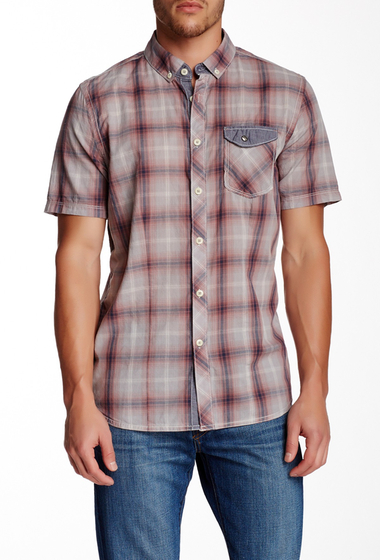 Imbracaminte Barbati Jeremiah Lucian Plaid Short Sleeve Regular Fit Shirt SILVER