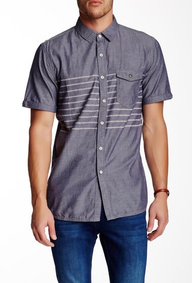 Imbracaminte Barbati Jeremiah Gil Printed Short Sleeve Regular Fit Shirt ADMIRAL