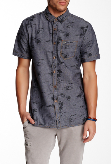 Imbracaminte Barbati Jeremiah Delray Printed Short Sleeve Regular Fit Shirt ULTRAMARINE
