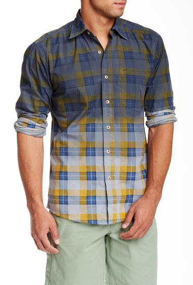 Imbracaminte Barbati Vintage 1946 Huntington Dip Dye Classic Fit Plaid Long Sleeve Shirt tan-navy