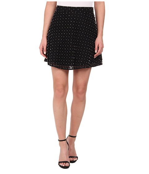 Imbracaminte Femei Michael Kors Floral Eyelet Circle Skirt Black