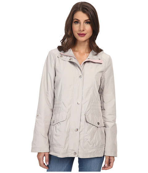Imbracaminte Femei Jessica Simpson Snap Front Anorak with Contrast Lining SilverRose