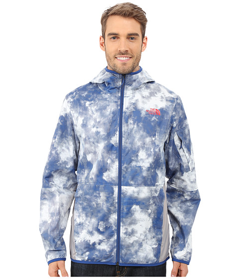 Imbracaminte Barbati The North Face Chicago Wind Jacket Limoges Blue Cirrus Print